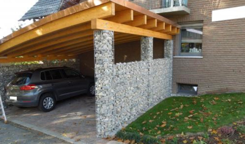 carport mit dachbegr nung in marienm nster p hler gut. Black Bedroom Furniture Sets. Home Design Ideas