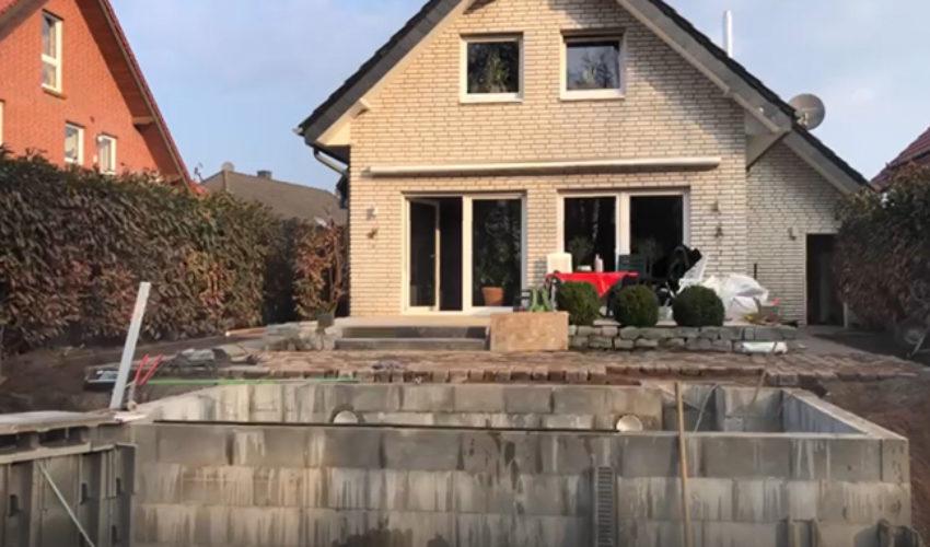 Gartenumgestaltung mit Pool